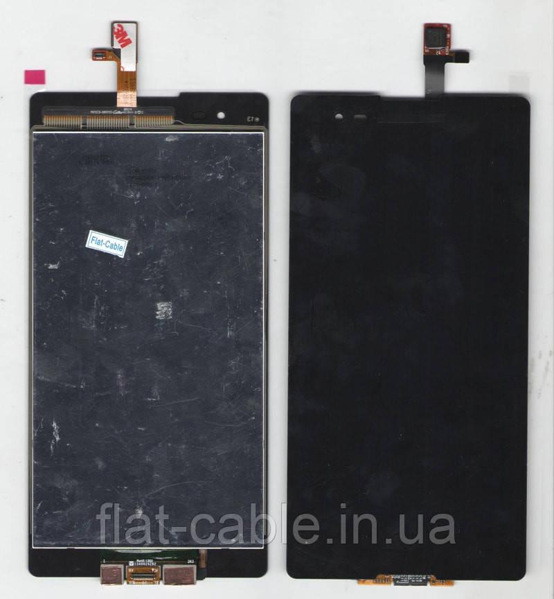 Дисплей + сенсор Sony D5322 Xperia T2 Ultra Dual чёрный