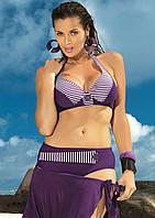 Купальник с высокими трусиками (L-XL в расцветках) XL, фиолетовый
