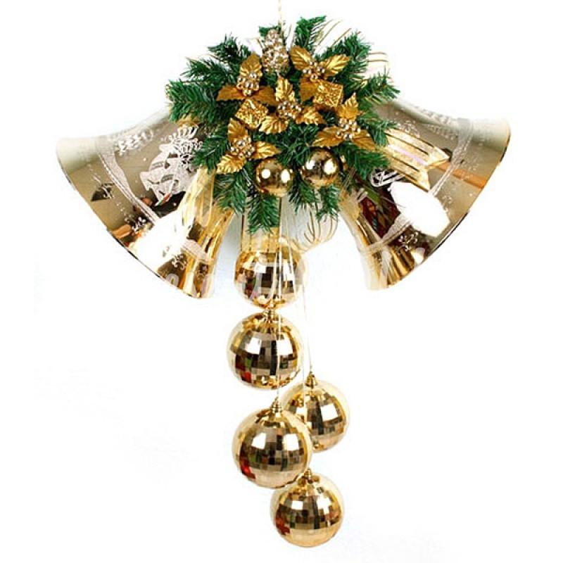 Новогодний декор «Колокольчики», 74х106 см.