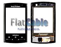 Сенсор Sony Ericsson X10 mini чёрный (оригинальный)