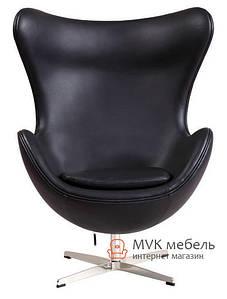 Кресло Egg (эко кожа) (черное)