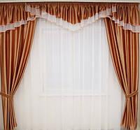 Ламбрекен со шторами для спальни, фото 1