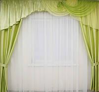 Готовые шторы с ламбрекеном, фото 1