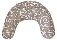 Наволочка для подушки Лежебока для кормления с рисунком «Завитки на светлом»