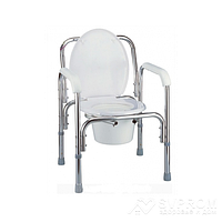 Складной регулируемый стул Nova, цвет серебристый 8700-029