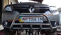 Защита переднего бампера кенгурятник низкий D60 на Renault Logan 2013