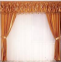 Шторы для гостинной со стеклярусом, фото 1
