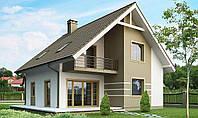 Загородный дом из кирпича, дача из кирпича, строительство дачи, коттедж из кирпича