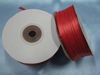 Лента атлас 3 мм, светло-красный
