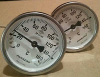 Термометр биметаллический трубчатый PAKKENS Ø65мм, Турция