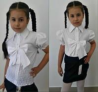Детская белая блузка 403