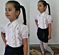 Детская белая блузка 438