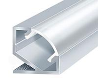 Алюминиевый профиль для светодиодной ленты ЛПУ17 (не аннодированный)+ рассеиватель(матовый), фото 1