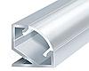 Алюминиевый профиль для светодиодной ленты ЛПУ17(не аннодированный) + рассеиватель(прозрачный)