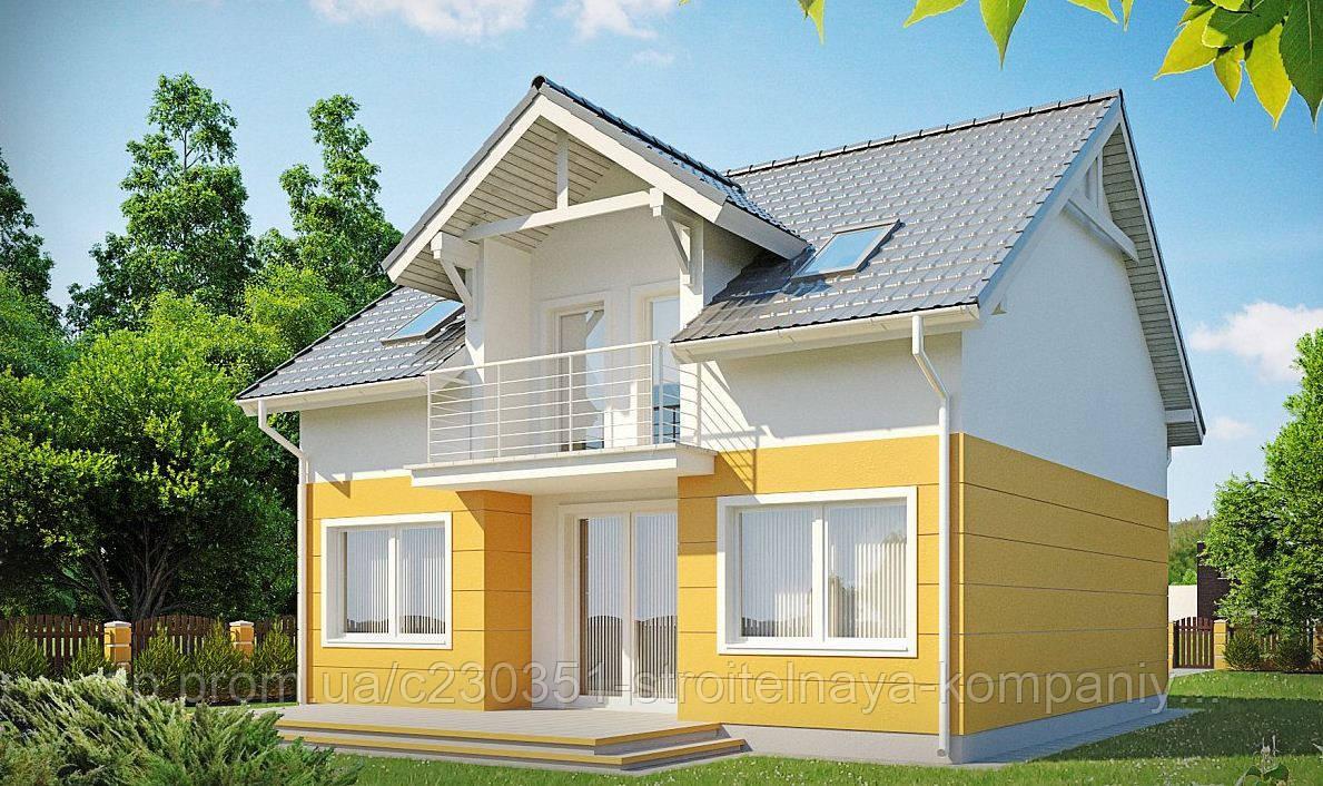 Дом за городом, кирпичный дом, мансардный, полимерпесчаная тротуарная плитка, полимерпесчаная черепица