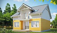 Дом за городом, кирпичный дом, мансардный, полимерпесчаная тротуарная плитка, полимерпесчаная черепица, фото 1