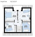 Дом за городом, кирпичный дом, мансардный, полимерпесчаная тротуарная плитка, полимерпесчаная черепица, фото 4