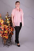 Блуза 2906-460/3 шифон больших размеров оптом