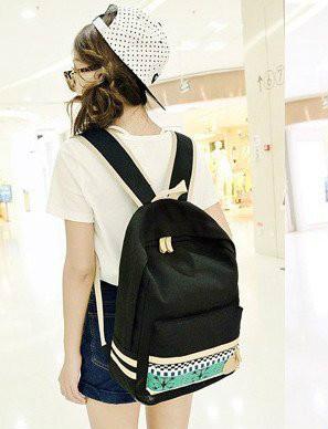 Стильный молодежный рюкзак с рисунком на кармане