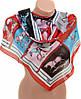 Легкий женский шифоновый шарф размером 50*160 см Подиум 10995-7 (разноцветный)