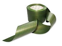 Лента декоративна - Лист аспидистры зеленый, ширина 8,3 см, длина 50 см