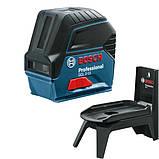 Лазерный нивелир комби (линейный + точечный) Bosch GCL 2-15, 0601066E00, фото 3