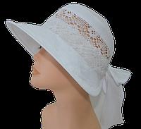 Шляпа белая с полями   Маргарита , купить