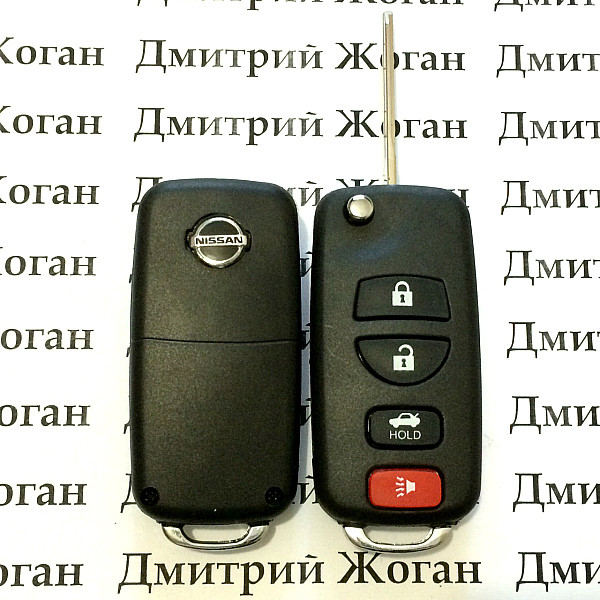 Корпус выкидного ключа для Nissan (Ниссан) 3 кнопки + 1 кнопка