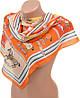 Воздушный женский шифоновый шарф размером 50*160 см Подиум 10995-6 (оранжевый)