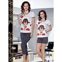 Костюм для дома Lady Lingerie футболка, бриджи+шорты 7004