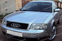 Вії Ауді А6 С5 (накладки на передні фари Audi A6 C5)