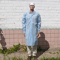 Халат відвідувача одноразовий блакитний