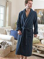 Мужской махровый халат CASUAL AVENUE Chicago NAVY синий  размер XL