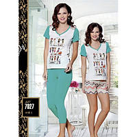 Костюм для дома Lady Lingerie футболка, бриджи+шорты 7027