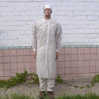 Халат відвідувача одноразовий білий
