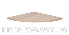 Гербор Офис лайн Приставка стола угловая BIUN  22х700х700мм дуб сонома