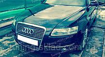 Вії Audi A6 C6 (накладки на передні фари Ауді А6 С6)