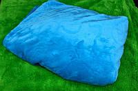 Покрывало махровое Евро размера East Comfort - синие