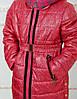 Зимнее пальто для девочки Лиза вязаный воротник , фото 2