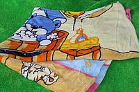 Детская махровая простынь на кровать