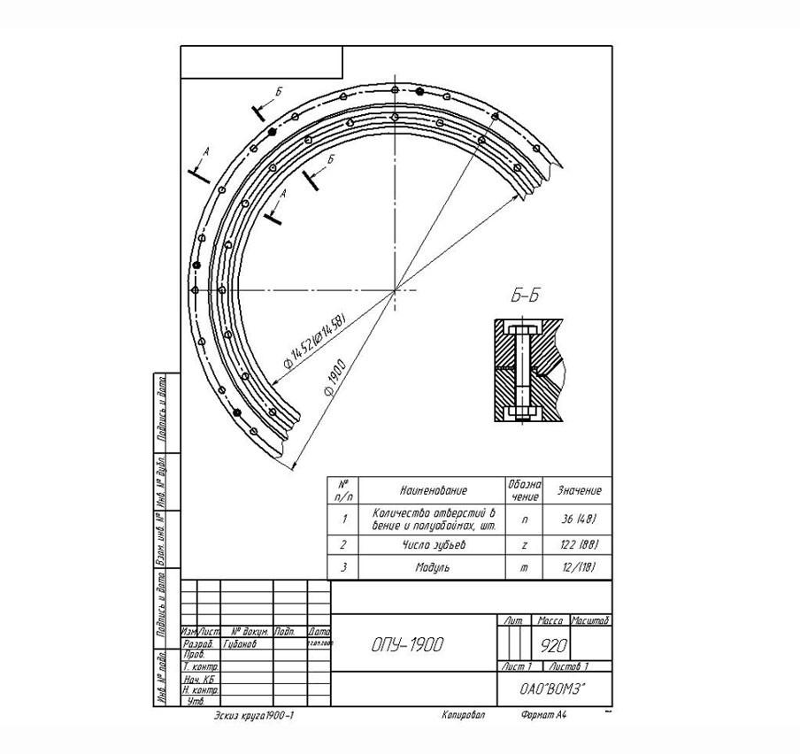 Ремонт опорно-поворотных устройств (ремонт ОПУ)