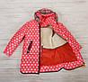 Зимнее пальто для девочки Лиза вязаный воротник , фото 4