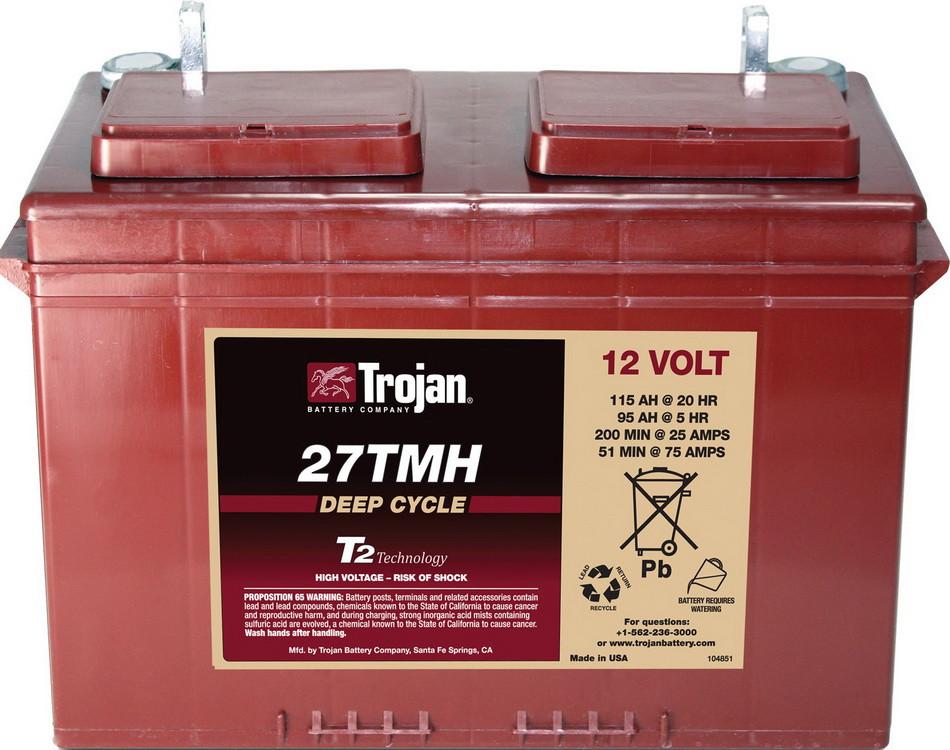 Аккумуляторная батарея TROJAN 27TMH, 12 Вольт, 115 (95) Ач