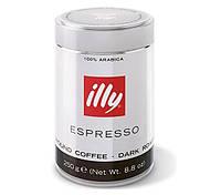 Кофе молотый Illy espresso dark темной обжарки в ж/б 250 гр