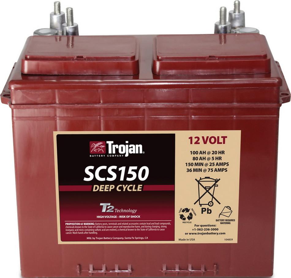 Аккумуляторная батарея TROJAN SCS150, 12 Вольт, 100 (80) Ач