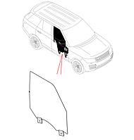 Скло дверцят передніх правих, (D6) - LR034295, LR053167