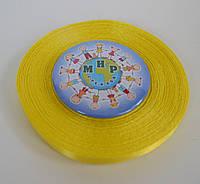 Лента атласная 6 мм Жёлтая (светлая)
