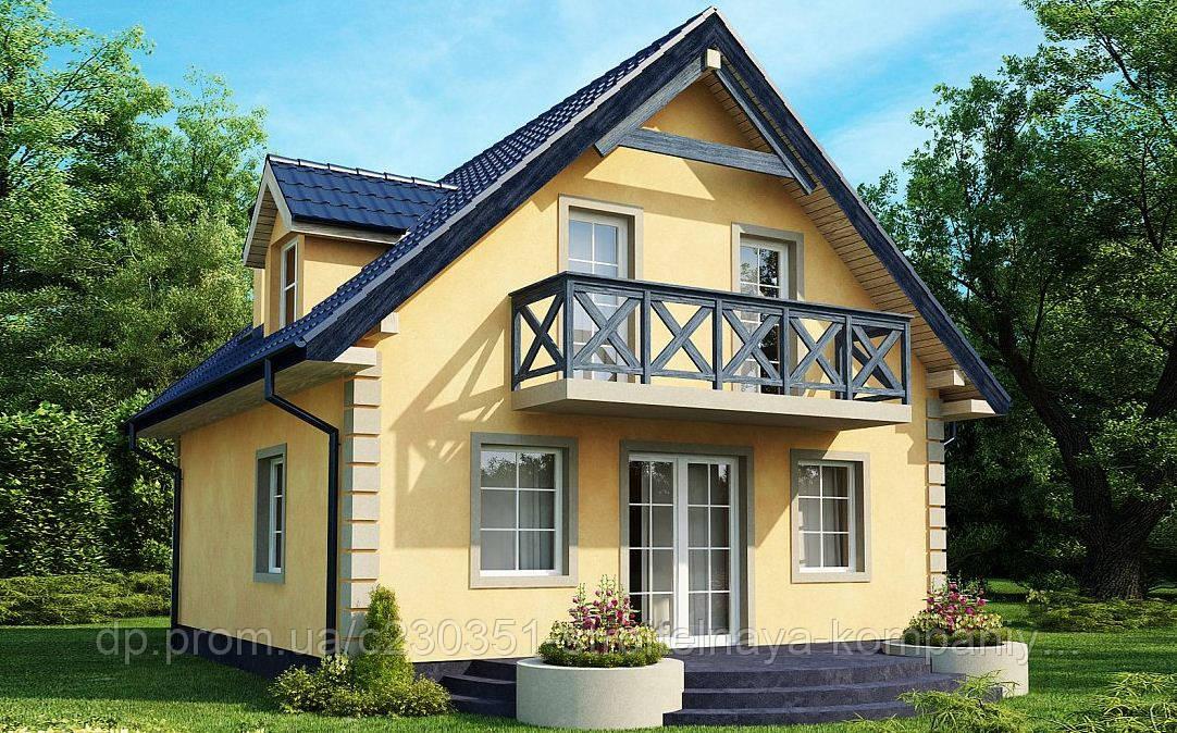 Дом из газобетона, теплый дом, строительство домов из газобетона в Днепре, Киеве