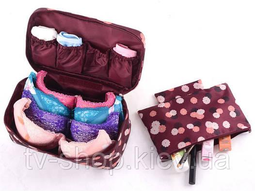Органайзер для белья с косметичкой Qianyecao Travel (4 расцветки)