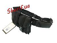 Ремень черный  с 6 подсумками Black Max Fuchs 22320A